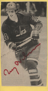 ULF NILSSON - NEWSPAPER PHOTOGRAPH SIGNED