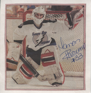 MANON RHEAUME - NEWSPAPER PHOTOGRAPH SIGNED