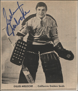 GILLES MELOCHE - NEWSPAPER PHOTOGRAPH SIGNED