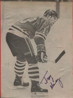 TROY MURRAY - NEWSPAPER PHOTOGRAPH SIGNED
