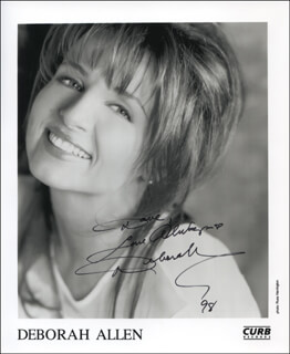 DEBORAH ALLEN - AUTOGRAPHED INSCRIBED PHOTOGRAPH 1998