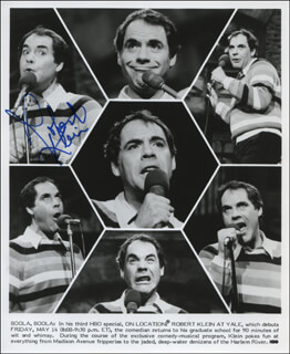 ROBERT KLEIN - PRINTED PHOTOGRAPH SIGNED IN INK