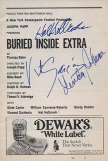 Autographs: BURIED INSIDE EXTRA PLAY CAST - SHOW BILL SIGNED CO-SIGNED BY: VINCENT GARDENIA, HAL HOLBROOK, LINDA SELMAN