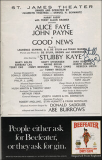STUBBY KAYE - SHOW BILL SIGNED