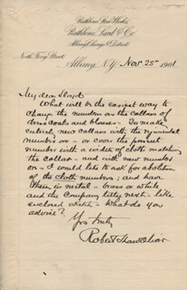 BRIGADIER GENERAL ROBERT SHAW OLIVER - AUTOGRAPH LETTER SIGNED 11/25/1901