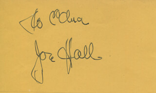 JON HALL - INSCRIBED SIGNATURE