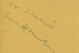 THOMAS NEAL - AUTOGRAPH NOTE SIGNED CO-SIGNED BY: OSCAR HOMOLKA