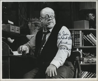 BURL IVES - AUTOGRAPHED INSCRIBED PHOTOGRAPH 10/10/1967