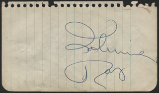 JOHNNIE RAY - AUTOGRAPH CO-SIGNED BY: DAVID WAYNE