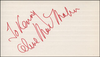 ALINE MacMAHON - INSCRIBED SIGNATURE
