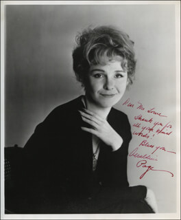 GERALDINE PAGE - AUTOGRAPHED INSCRIBED PHOTOGRAPH