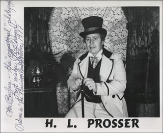 H. L. PROSSER - AUTOGRAPHED INSCRIBED PHOTOGRAPH 10/1977