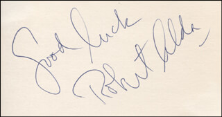 ROBERT ALDA - AUTOGRAPH SENTIMENT SIGNED