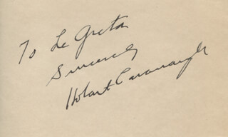 HOBART CAVANAUGH - AUTOGRAPH NOTE SIGNED