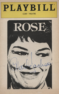 GLENDA JACKSON - SHOW BILL COVER SIGNED