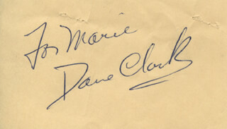 DANE CLARK - INSCRIBED SIGNATURE