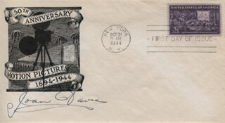 JOAN DAVIS - FIRST DAY COVER SIGNED