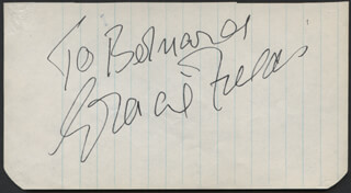 GRACIE FIELDS - INSCRIBED SIGNATURE