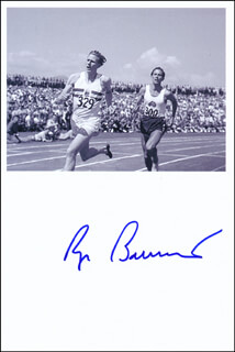 Autographs: ROGER G. BANNISTER - PHOTOGRAPH SIGNED