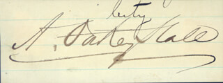Autographs: A. OAKEY HALL - SIGNATURE(S) 12/10/1872