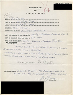 JOE YOUNG - AUTOGRAPH RESUME SIGNED