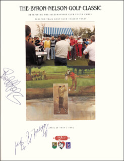 Autographs: PRESIDENT GERALD R. FORD - PROGRAM SIGNED CIRCA 1982 CO-SIGNED BY: BOB HOPE