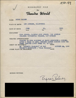 BYRON PALMER - TYPED RESUME SIGNED
