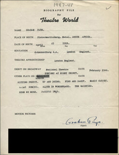 GRAHAM PAYN - TYPED RESUME SIGNED