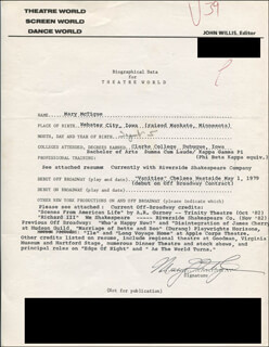 MARY MCTIGUE - TYPED RESUME SIGNED