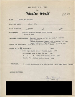 GLORIA BLEEZARDE - TYPED RESUME SIGNED