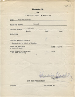HERMIONE BADDELEY - TYPED RESUME SIGNED