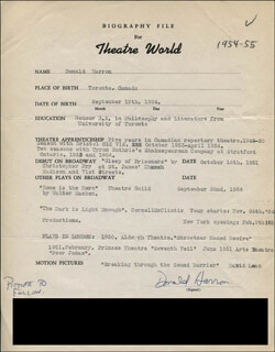 DON (DONNALD) HARRON - TYPED RESUME SIGNED