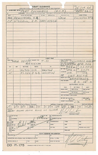 Autographs: NEIL ARMSTRONG - DOCUMENT DOUBLE SIGNED 06/25/1964