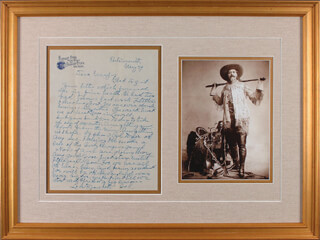 WILLIAM F. BUFFALO BILL CODY - AUTOGRAPH LETTER SIGNED 05/29/1911