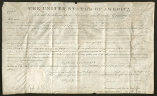 PRESIDENT JAMES MONROE - LAND GRANT SIGNED 10/01/1823 CO-SIGNED BY: GEORGE GRAHAM