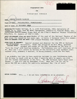 ANDREW J. VASNICK - TYPED RESUME SIGNED
