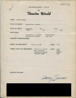 HARRY TOWNES - TYPED RESUME SIGNED