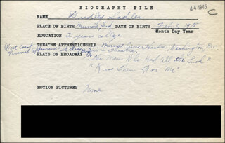 DUDLEY SADLER - AUTOGRAPH DOCUMENT SIGNED IN TEXT
