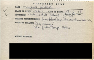 MARGARET PHILLIPS - AUTOGRAPH DOCUMENT SIGNED IN TEXT
