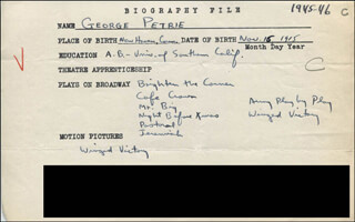 GEORGE PETRIE - AUTOGRAPH DOCUMENT SIGNED IN TEXT