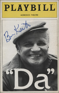 BRIAN KEITH - SHOW BILL COVER SIGNED