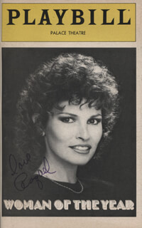 RAQUEL WELCH - SHOW BILL COVER SIGNED