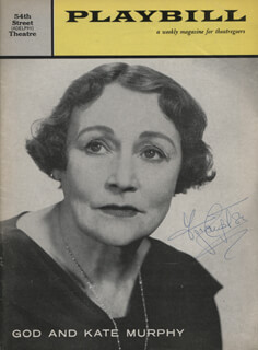 FAY COMPTON - SHOW BILL COVER SIGNED