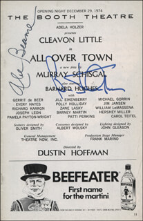 MAYOR ABRAHAM D. BEAME - SHOW BILL SIGNED CO-SIGNED BY: BARNARD HUGHES