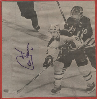 GUY CARBONNEAU - NEWSPAPER PHOTOGRAPH SIGNED