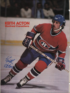 KEITH ACTON - MAGAZINE PHOTOGRAPH SIGNED
