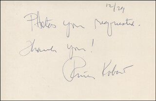 PHIL ROBERT - AUTOGRAPH NOTE SIGNED 12/29