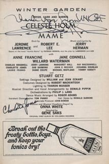 MAME PLAY CAST - SHOW BILL SIGNED CO-SIGNED BY: CELESTE HOLM, CHARLOTTE JONES