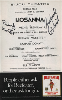 HOSANNA PLAY CAST - SHOW BILL SIGNED CO-SIGNED BY: RICHARD MONETTE, RICHARD DONAT