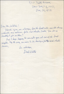 RICHARD DICK WATTS JR. - AUTOGRAPH LETTER SIGNED 12/19/1979